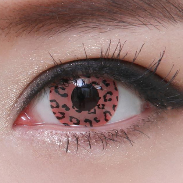 Geo Crazy Pink Leopard Lens SF-64 - Geo Contact Lens
