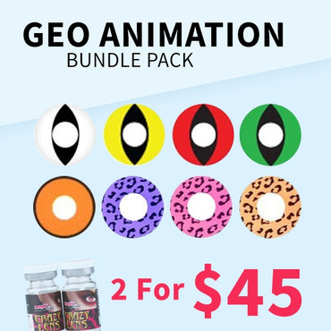 Geo Animation Bundle Pack - 2 for $45 - Geo Contact Lens