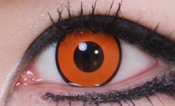 Geo Crazy Orange Pumpkin Lens SF-87 - Geo Contact Lens