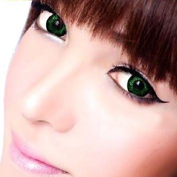 Geo Flower Blanket Green WFL-A73 - Geo Contact Lens