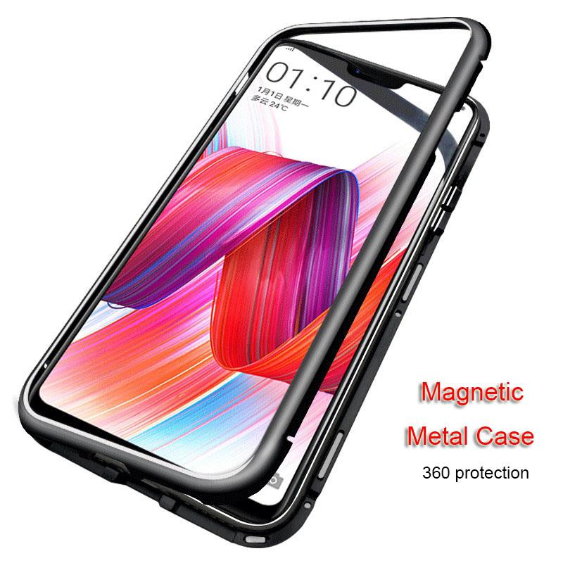 official photos 2077d aa539 Magnetic Adsorption Flip Phone Case for Oneplus 6 6T