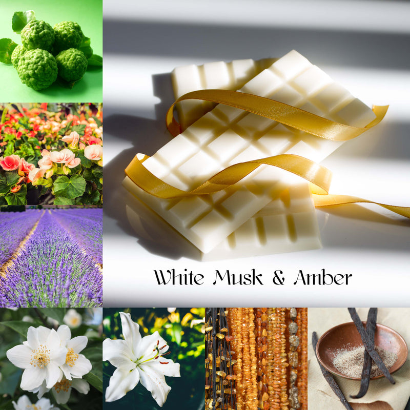 White Musk & Amber Wax Melt Snap Bar