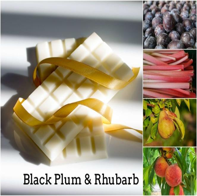 Black Plum & Rhubarb Wax Melt Snap Bar