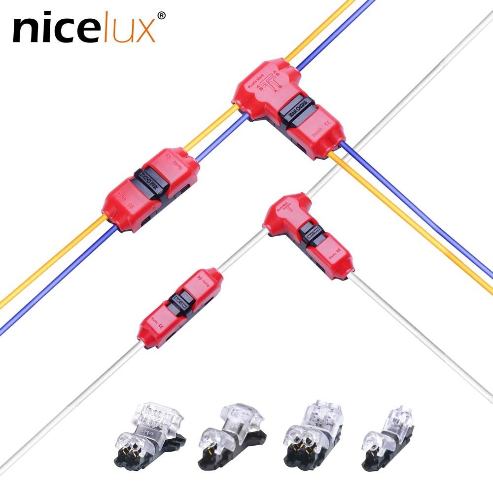 5pcs Quick Splice Scotch Lock Wire Wiring Connector for 1 Pin 2 Pin on