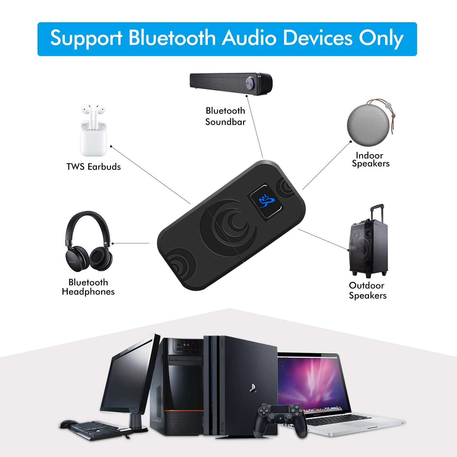 Olclss Wireless Bluetooth Adapter Usb Bluetooth Dongle Support Voice C Onpick
