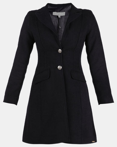 HEMISA - Wool melton Heera coat - Blue Ink (SS)