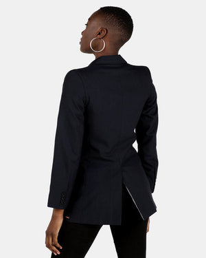 HEMISA - Kate cashmere wool, double breasted blazer - Midnight blue