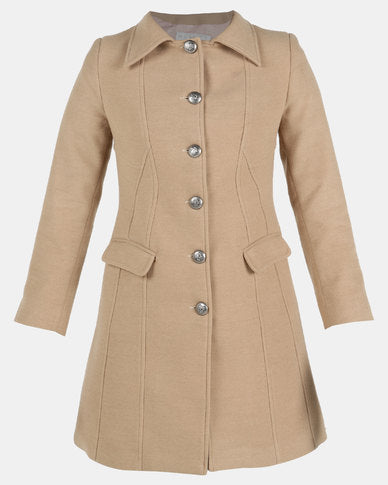 HEMISA Burberry Inspired Joshna Coat Camel