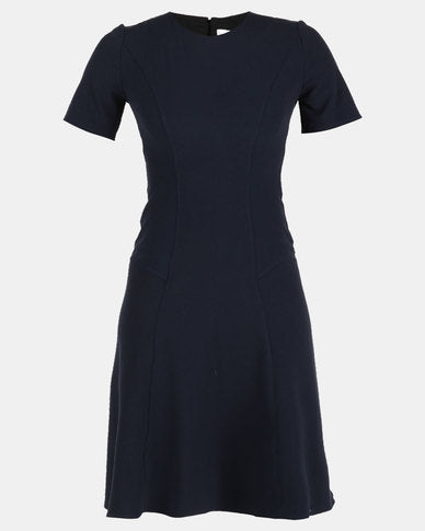 HEMISA - Karen navy fit and flare dress - Navy