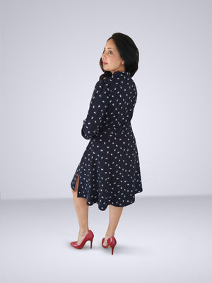 HEMISA - Odette Dress - Navy