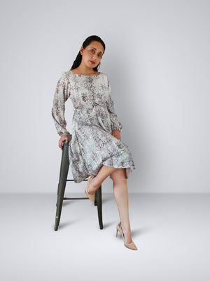 HEMISA - Nagina Dress - Reptilian print