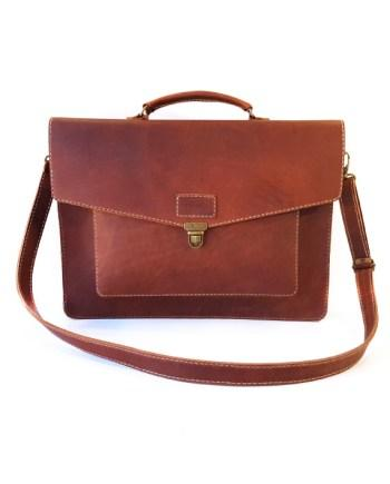 Hudson Leather Laptop Bag