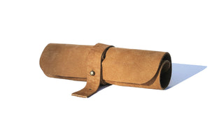 Leather Roll-up Cable Pouch and Pen Holder