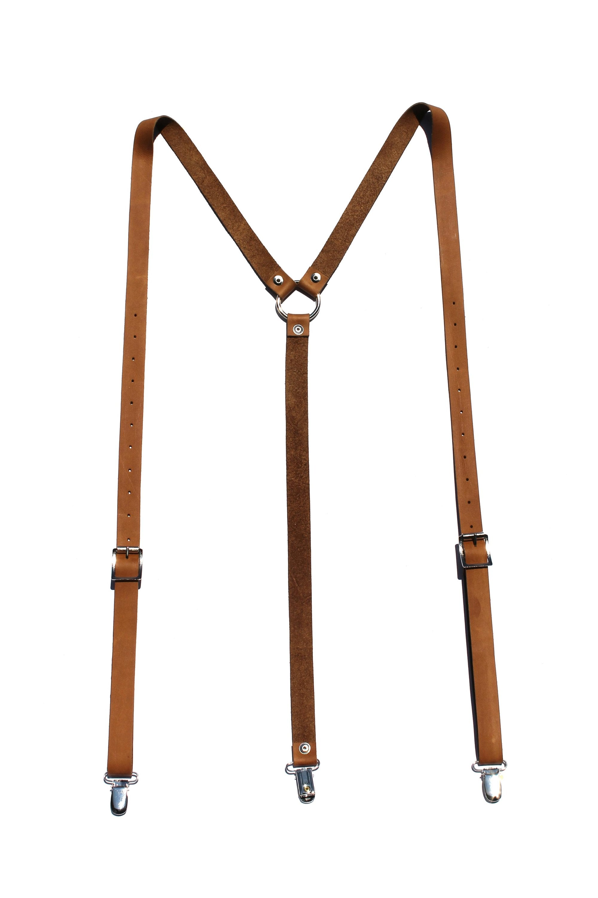 Genuine Leather Suspenders for Men