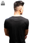 Black Basic V-Neck T-Shirt