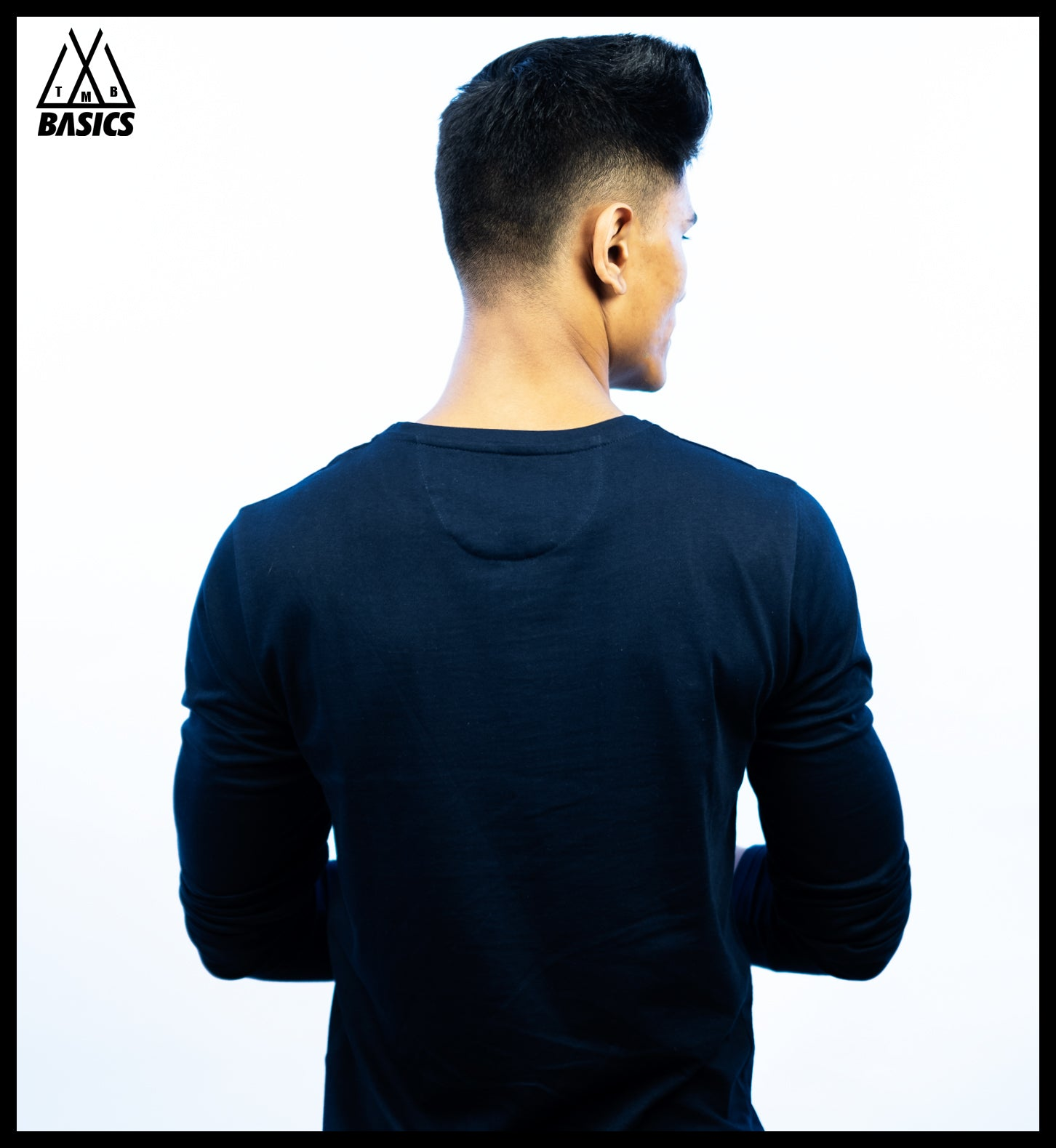 Navy Basic Long Sleeve T-Shirt | Crew Neck
