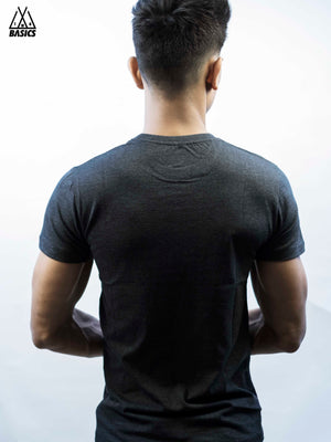 Stealth Grey Basic Crew/Round Neck T-Shirt