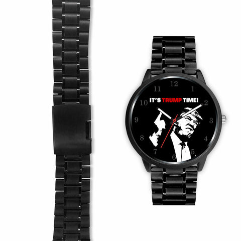 "Image of ""It's Trump Time"" Stainless steel wrist wristwatch!"