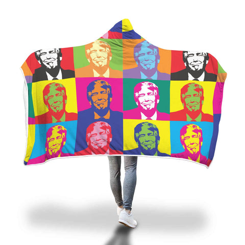 Trump Warhol Ultra Soft Hooded Blanket