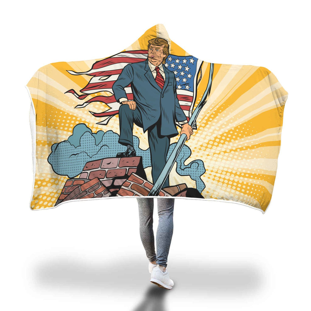 Trump Taking Back America For We The People Super Soft Hooded Blanket