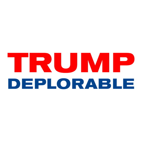Trump Deplorable Removable Bumper Sticker