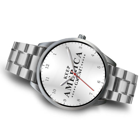 Image of Keep America Great! Silver Link Luxury Watch
