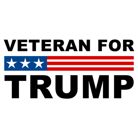 Veteran for Trump Die Cut Stickers