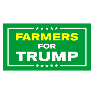 Farmers for Trump Bumper Sticker