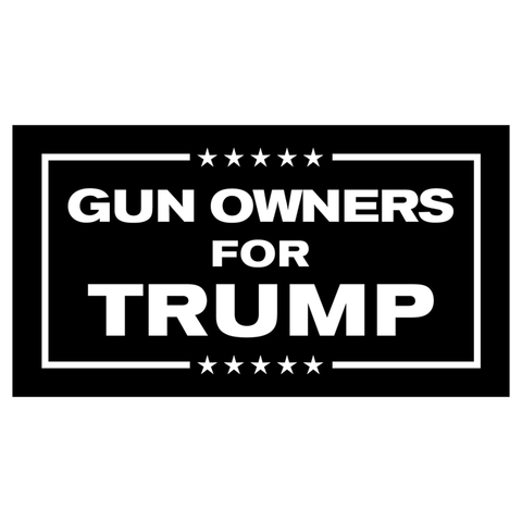 Gun Owners for Trump Stickers