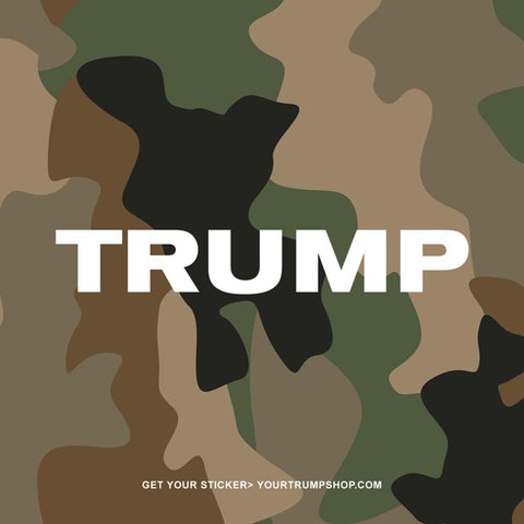 Trump Camo Sticker