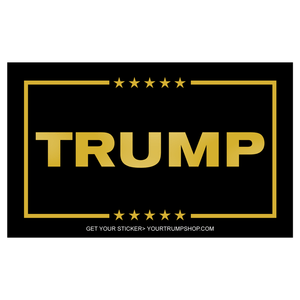 Trump Bumper Sticker Gold Lettering