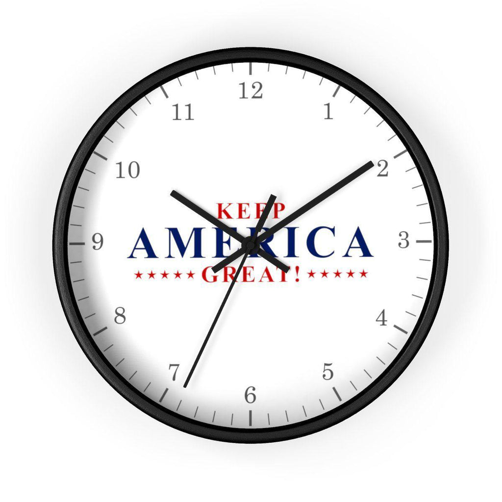 Keep America Great! Wall clock (Wood Frame)