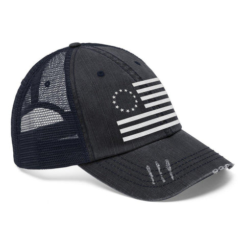 Image of Betsy Ross Flag Distressed Trucker Hat