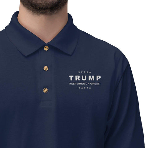 Image of Trump Keep America Great Embroidered Polo Shirt