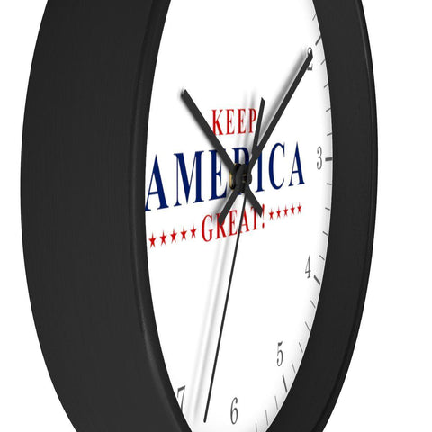 Image of Keep America Great! Wall clock (Wood Frame)