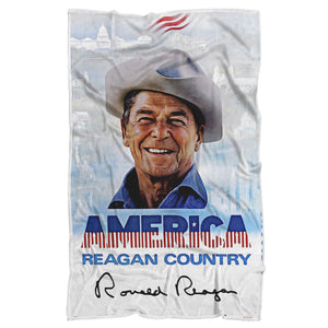 America is Reagan Country Luxury Sherpa Blanket