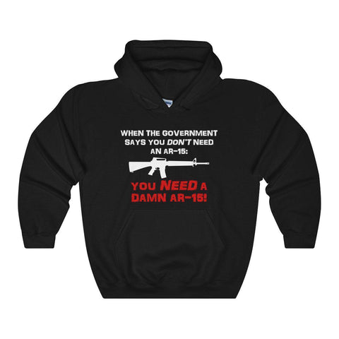 2nd Amendment Anti-Government Gun Supporter Hooded Sweatshirt