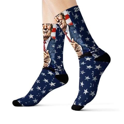 Image of Trump 2020 Patriotic Socks