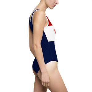 Red, White, and Blue Trump Keep America Great One Piece Swimsuit