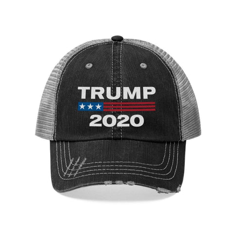 Image of Trump 2020 Worn Look Trucker Hat