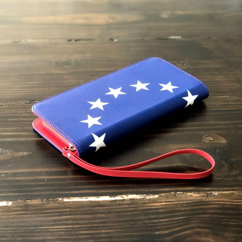 Betsy Ross American Flag Clutch Purse