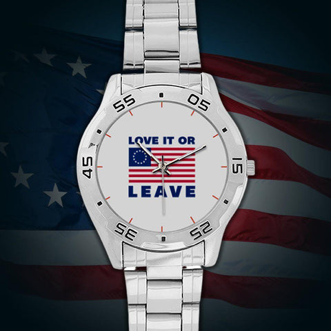 "Betsy Ross American Flag ""Love it or Leave"" Special Edition Watch"
