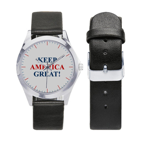 Image of Classic Keep America Great! Collectors Leather Watch