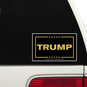 Gold Letter Trump Bumper Sticker
