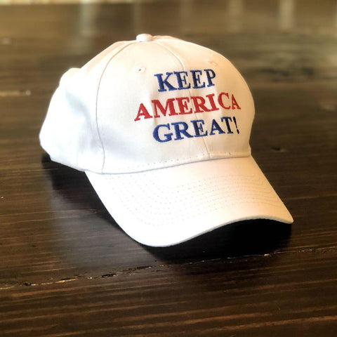 Image of Keep America Great White Trump Hat