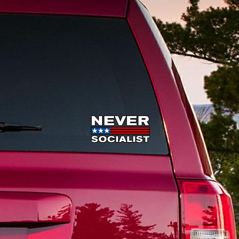 Never Socialist Die Cut Vinyl Stickers