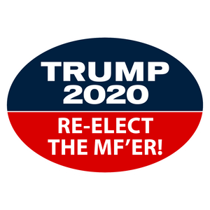 Trump 2020 Re-Elect The MF'er Die Cut Vinyl Stickers