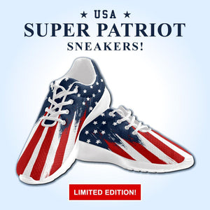 LIMITED: Super Patriot Flag Sneakers