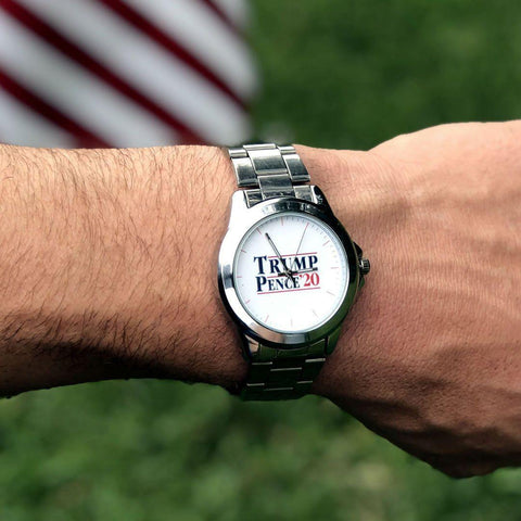 Trump Pence '20 Stainless Steel Collectors Watch