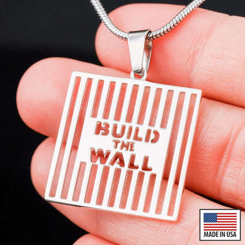 Exclusive: Build The Wall White Gold Necklace